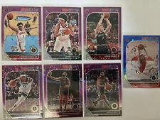 Lot (7) 2019-20 NBA Hoops Premium Stock PURPLE DISCO BLUE ICE D'Angelo Russell