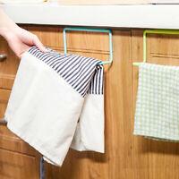 LT_ OVER DOOR TEA TOWEL RACK BAR HANGING HOLDER RAIL ORGANIZER HOME KITCHEN HA