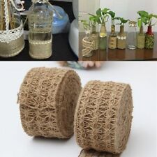 DIY 3M/roll Burlap Rope Craft Natural Hessian Jute Twine Hollow Flower Rope