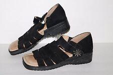 Walking Co Sandals, Black, Leather, Women's US Size 9, EU 40