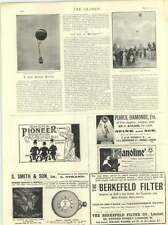 1899 Fatal Balloon Accident New Zealand Captain Loraine Christchurch