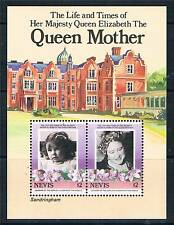 Nevis 1985 Life & Times Queen Mother MS317 MNH