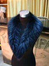Collo in/di  pelliccia BLU per giacca di pelle