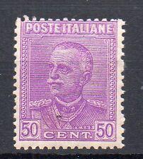 1928 REGNO 50 CENTESIMI LILLA VIOLETTO INTEGRO D/343
