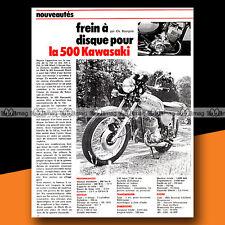 ★ KAWASAKI 500 H1 MACH 3 ★ 1972 Article de presse Moto / Original Article #a1284