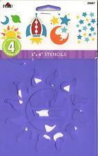 """Pack De 4 Espacio 5 """"x 8"""" de la plantilla conjunto Scrapbook Plantilla Decoración Luna Sol 28667"""