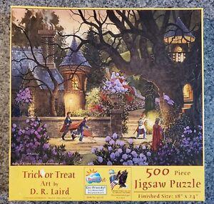 SunsOut 500 piece puzzle TRICK OR TREAT Halloween D.R.Laird COMPLETE