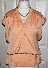 Dorothy Perkins No Pattern V Neck Hip Length Women's Tops & Shirts