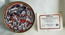 "Sports Impressions Collector's 8 1/2"" Plate DREAM TEAM II USA Basketball w/COA"