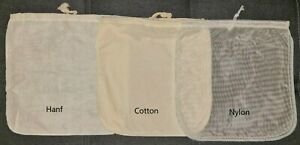 Hanf Cotton Nylon Nussmilchbeutel Abseihtuch Sprossenbeutel Passiertuch vegan