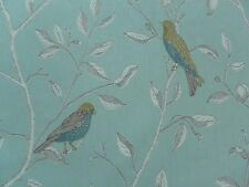 Sanderson Curtain Fabric FINCHES 3.25m Duck Egg - Birds/Floral Design 325cm