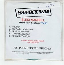 (FC886) Eleni Mandell, Thrill 5 track sampler - DJ CD