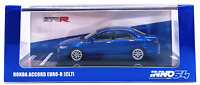 INNO64 - Honda Accord Euro-R CL7 (Blue) With Extra Wheels - 1:64