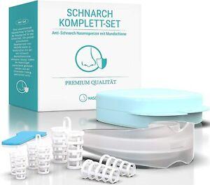 NASOX© Schnarchstopper Komplett-Set LABORGEPRÜFT Nasenspreizer & Schnarchschiene