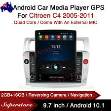 """9.7"""" Android 10.1 Car Stereo non DVD GPS USB Head Unit For Citroen C4 2005-2011"""