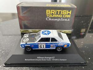 SUPER RARE Atlas Editions 1:43 Hillman Avenger Bernard Unett 1974 BTCC Champion