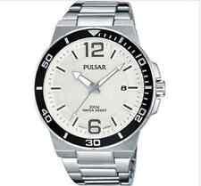 Pulsar Para Hombre De Acero Inoxidable Reloj con Cuadrante Blanco Correa PS9403 por Seiko