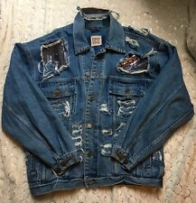 "VESTE EN JEAN OVERSIZE ""DESTROY"" AVEC SEQUINS FURST OF A KIND NEW YORK T.L"