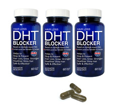 DHT Blocker Natural Supplement with Pure Saw Palmetto Oil Extract 180 Capsules
