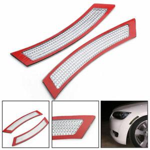 2x WHITE FRONT BUMPER REFLECTORS For 07-13 BMW E92/E93 3SERIES COUPE/CONVERTIBLE