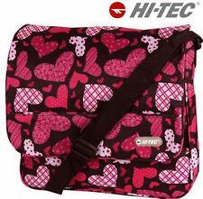 Backpack Print Rucksack Bag Girls Boys Hi Tec Travel School Work College Bags 314 Black