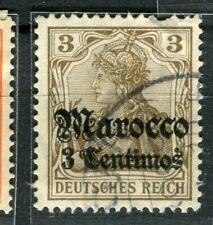 GERMAN COLONIES; MAROKKO early 1905 Wmk. issue used 3c. value