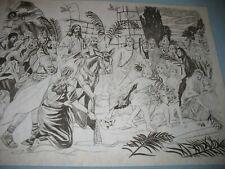 * Tri Chem 2529 Triumphal Entry Jesus On Donkey Picture Trichem