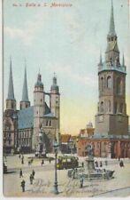 Frankierte Ansichtskarten aus Sachsen-Anhalt Halle Saale