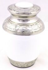 "Cremation Urn For Ashes Child urn Cremation Funeral Memorial 6"" Small White urn"