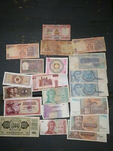LOT OF 20   MIXED OLD FOREIGN BANKNOTES FOR COLLECTION ##05
