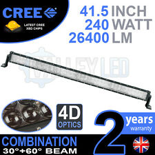 """4D 40"""" 240w Cree LED Light Bar Combo IP68 Driving Light Alloy Off Road 4WD Boat"""