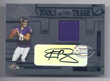 2005 Absolute Football Kyle Boller Tools of the Trade Black Auto/Jsy Card #06/50