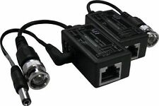 LTS BNC to RJ45 Video Balun with Power Connector, 1 Pair LTA1010