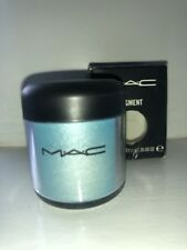 MAC pigment eyeshadow pot full size *Mutiny* sparkling teal / blue tone