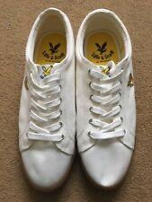 Lyle & Scott Halket Off White Men's Trainers Shoe, Size UK10, £48