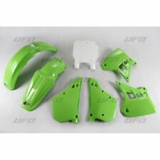 New Kawasaki EVO KX 250 1990 1991 90 91 Green White Plastic Kit Plastics