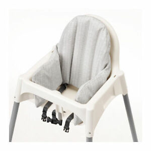 IKEA ANTILOP BABY HIGH CHAIR INFLATABLE CUSHION & COVER SET GRAY WHITE NEW FRESH