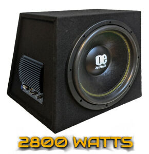 """2800 watts 15"""" 38cm Bass box car audio subwoofer active amplified sound amazing"""