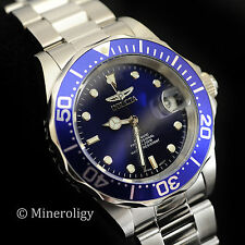 Invicta Pro Diver 9094 AUTOMATIC Mechanical Blue Dial Silver SS Men's Watch NEW!