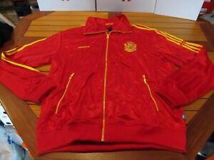 RARE NWT Adidas Spain TT Track Jacket Trefoil Red 2XL P04033 Soccer 78 World Cup