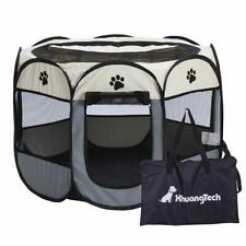 Grey Portable Lightweight Pop Up Dog Pet Kennel House Outdoor Cage Puppy Cat Pet