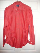 Ralph Lauren blouse size 10 LS EUC button red and blue stripe