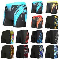 Mens Boxer Briefs Swimming Swim Shorts Trunks Swimwear Beach Pants Underwear