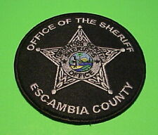 ESCAMBIA COUNTY  FLORIDA  ( SILVER/BLACK ) DETENTION  SHERIFF /  POLICE PATCH