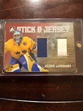 06/07 ITG Heroes/Prospects Stick And Jersey Henrik Lundqvist Hockey Card #SJ-14