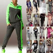 Damen Sportanzug Kapuze Pullover Hosen Set Trainingsanzug Jogginganzug Hausanzug