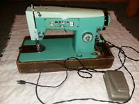Vintage White Model 2335 Zigzag Sewing Machine + Hardware & Pedal WORKING