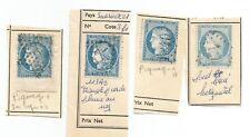 beau lot n60 4 timbres avec variétés  lot n7