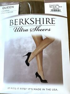 BERKSHIRE Ultra Sheers Pantyhose Size 1x-2x French Coffee Style 4413