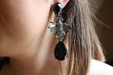 Runway Oscar de la Renta Haute Couture Massive Crystal Bee Earrings